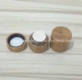 Cap/PPの内部のびん(PPC-BS-009)が付いているすべてのタケ装飾的なクリーム色の瓶