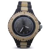 Reloj de madera de los hombres de Fashiob
