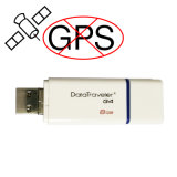 Contacto del USB con la emisión del GPS de la visualización de LED