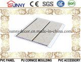 panneau de plafond moyen de panneau de mur de PVC de cannelure de largeur de 20cm avec l'impression pour la décoration intérieure