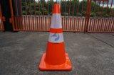 28 '' cones alaranjados de fluxo reflexivos flexíveis do tráfego do PVC