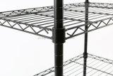 4 층 600X350X750mm를 가진 산업 용접된 철사 선반설치