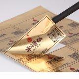 Goede Kwaliteit en Prijs Gepersonaliseerde Zelfklevende Gouden VinylStickers
