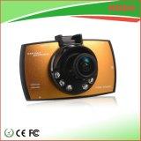 Câmera Digital Dash do carro de cor dourada com detecção de bloqueio