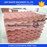 Les tuiles de toits en acier enduites en pierre peuvent contacter chaque couleur Perference des propriétaires