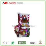 Mg-Weihnachtsgeschenk-Sankt-Haus-Statue mit LED-Licht für Hauptdekoration