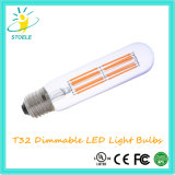 Stoele T32 6W Dimmable Edison LED 가벼운 관 전구