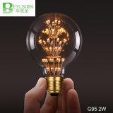 Luz del día de fiesta de la bombilla E27 de G95 2W LED