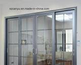 Portello di vetro di scivolamento di alluminio di migliore qualità singolo nel prezzo di fabbrica