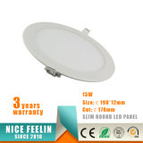 3W 6W 9W 12W 15W 18W 24W 둥근 LED 천장 Light&Slim LED Downlight