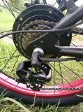 '' E-Bicicleta de alumínio da montanha do frame do pneu 26 gordo