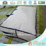 100% tela de algodón manta abajo pluma de ganso blanco y edredón hacia abajo
