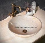 Lavabo di marmo beige della stanza da bagno