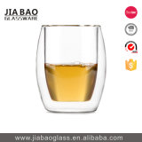 taza de café de cristal modificada para requisitos particulares 285ml del doble decorativo del Borosilicate de la etiqueta