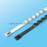 Serre-câble auto-bloqueur de polyester du type solides solubles de mode pour l'application facile
