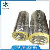 Conducto flexible de aluminio aislado fibra de vidrio de la alta calidad de Isoduct para la HVAC