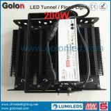 Resistencia de la señal de la garantía 1-10V PWM de los Yeas del fabricante 5 del surtidor de China que amortigua 200W luz de inundación del túnel LED de 200 vatios