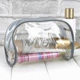 Quente-Vendendo o saco cosmético transparente do PVC com Zipper