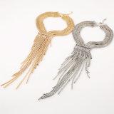 سبيكة طويلة [رهينستون] نمط متعدّد طبقات [تسّل] بيان عقد مجوهرات