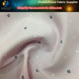 T / C Tela de rayas teñidas de hilo con poca impresión de la flor para la camisa