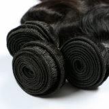 Erstklassige natürliche Farben-wellenförmige peruanische Jungfrau-Haar-Webart-Karosserien-Wellen-Menschenhaar-Bündel