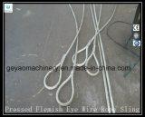 Ojo presionado 6 * 19 Eslinga de cable de alambre de Iwrc con ensamble de dedal y de acoplamiento principal