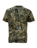 100%年の綿のカムフラージュの反応印刷の屋外の摩耗のTシャツ