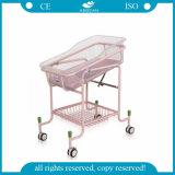 Pesebre superventas del bebé de la cesta del lavabo del ABS del hospital AG-CB010 con 4 ruedas