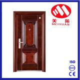 Puerta de acero exterior de la seguridad de la alta calidad sola para el apartamento