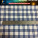 Filato di nylon blu/bianco ha tinto il tessuto, tessuto di tessile dell'assegno di Taslon per la spiaggia mette (YD1117)