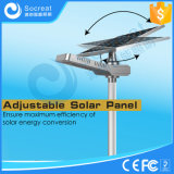 Lámpara de calle de energía solar inteligente con el panel solar ajustable