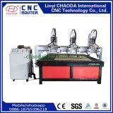 6 máquinas de estaca de madeira do CNC das cabeças para o frame da mobília