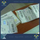 Escritura de la etiqueta de papel de empaquetado de sellado caliente de la seguridad