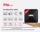 Caixa ajustada Android da tevê da caixa T96 Pr0/H96 PRO 3G+32g 4k Kodi da tevê