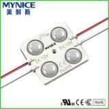 Luz caliente de la parte posterior del módulo del blanco 3 SMD LED para la muestra