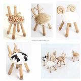 단단한 나무 아이들 의자 아이 발판 토끼 발판