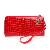 Fashion Women Wristlet Clutch Bag Portefeuille de voyage en cuir verni Gunuine