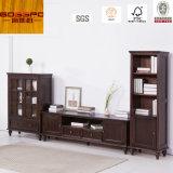 Governo di legno solido del basamento/TV della mobilia TV del salone (GSP13-006)