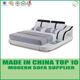 رفاهية مزدوجة جلد سرير لأنّ سرير غرزة أثاث لازم