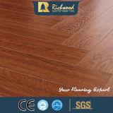 la planche de vinyle de teck de 12.3mm E0 AC4 a feuilleté le plancher en stratifié en bois
