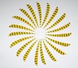Pena Striated parabólica Fletching de Turquia de 5 polegadas para a seta