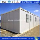 Casa modular personalizada do recipiente pré-fabricado do bloco liso do painel de parede claro do sanduíche do frame de aço