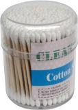 il cotone cosmetico a gettare dei Q-Tips di plastica del gambo 200PCS germoglia i tamponi dell'orecchio