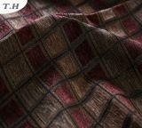 2016 Jacquard tela Chenille esquinas oscuro colores sofá paño