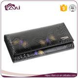 بطاقة محفظة جلد, حقيقيّة جلد نساء محفظة مع يطبع فراشة