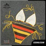 Biquini Handmade do Crochet da cabeçada de Boho