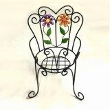 Decoración del jardín del soporte de la maceta de la silla de la flor del metal