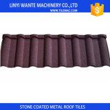 azulejos romanos de la hoja de la azotea/del material para techos del metal revestido de aluminio acanalado de la piedra de 1300X420X0.4m m