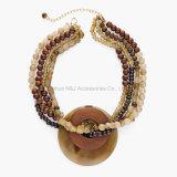 Collares hechos a mano de la más nueva manera con el collar de piedra natural para las mujeres