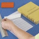 Cubierta de libro transparente modificada para requisitos particulares del PVC del pegamento de los diseños, fácil de utilizar y limpio